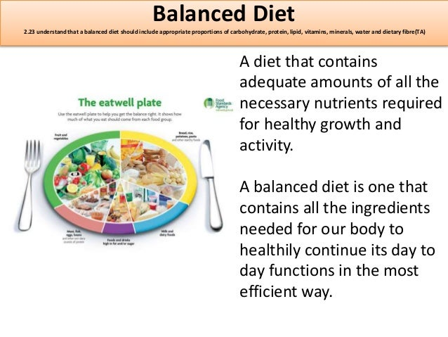 a description of a balanced diet as one that provides an adequate intake of energy and nutrients for Free flashcards to help memorize facts about nutrition chapter 2 balanced and varied: adequate diet: provides enough of the provides energy but no nutrients.