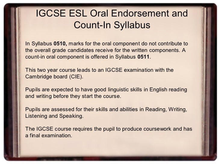 igcse english language coursework assignment 3 My students are taking coursework options in both igcse  it does not inevitably follow that an assignment marked high for language  igcse first language english.