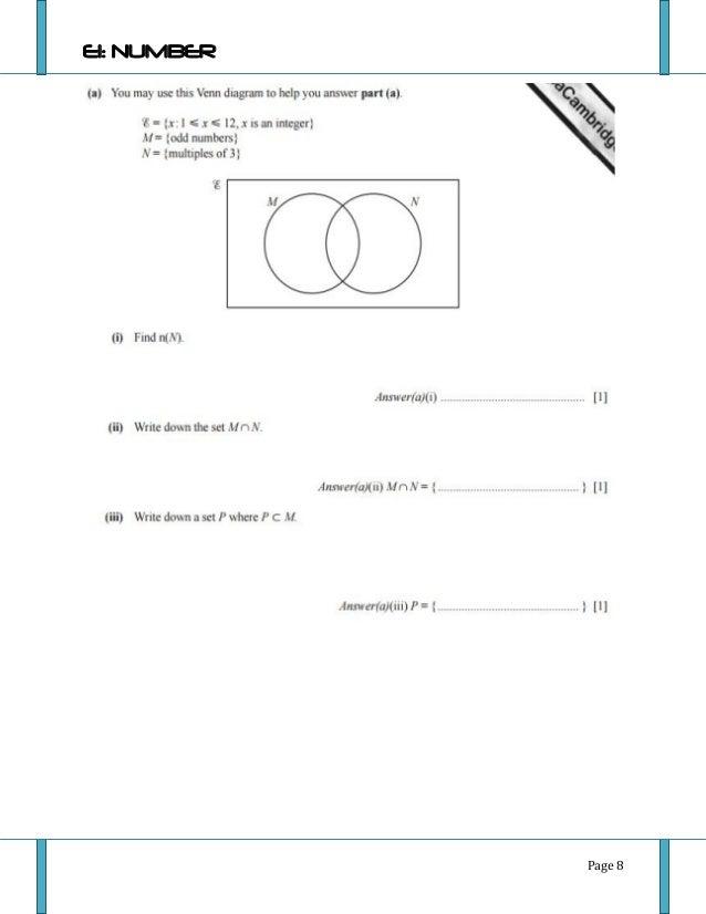 Igcse 0580 Math Extendednumber