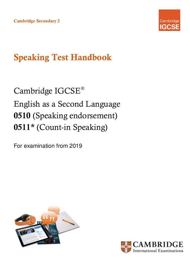 Igcse speaking test3