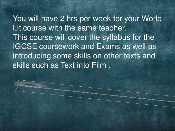 Igcse english coursework assignment 3 articles
