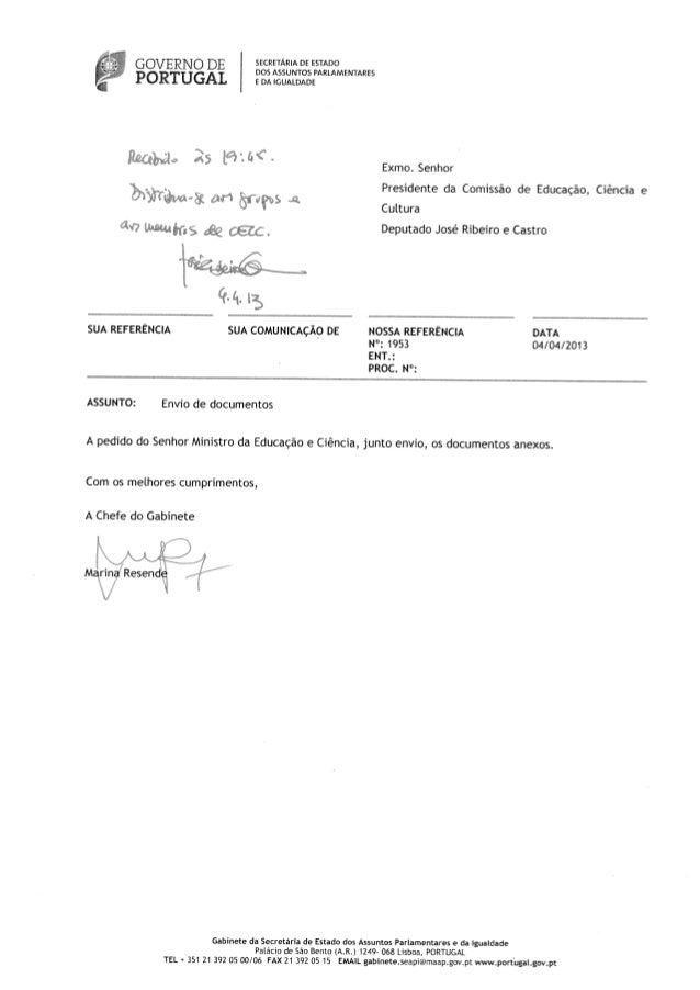 t3OSASSUNTOSPARLAMENTARES Exrno. Senhor Presidente da Comissão de Educação, Ciência e Cultura Deputado José Ribeiro e Cast...