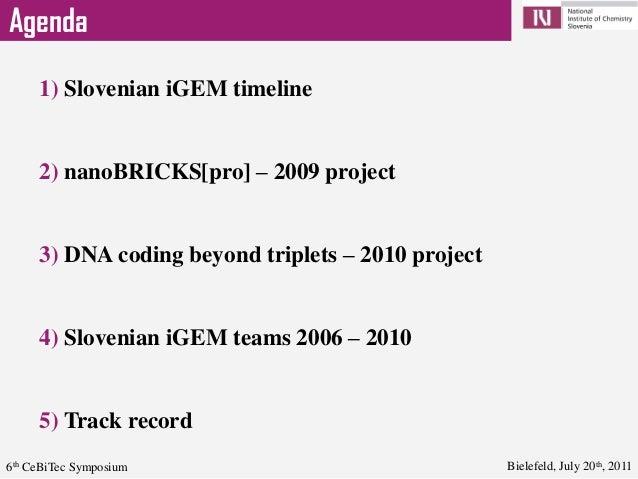 iGEM Slovenia @ 6th CeBiTec conference Slide 2