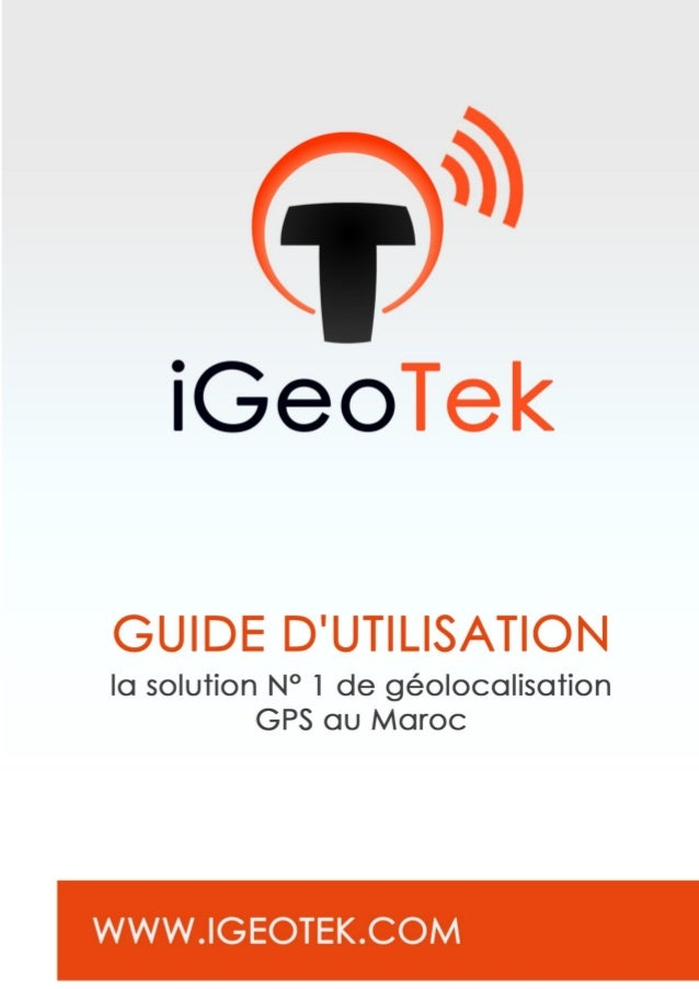 iGeoTek Fonctionnement Accès Web 1. Accédez à notre site sur l'adresse suivante www.igeotek.com 2. Cliquez dans le menu su...