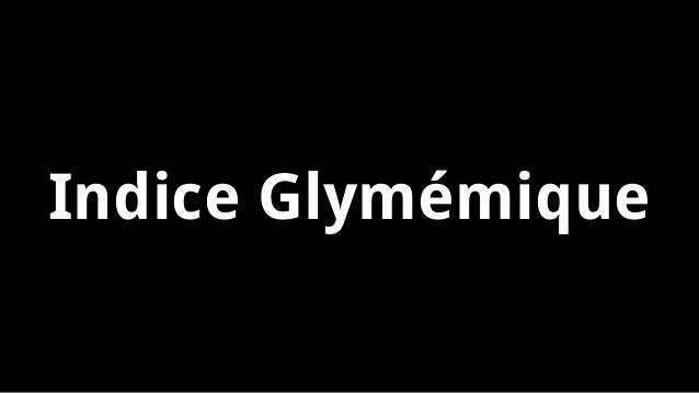 Indice Glymémique