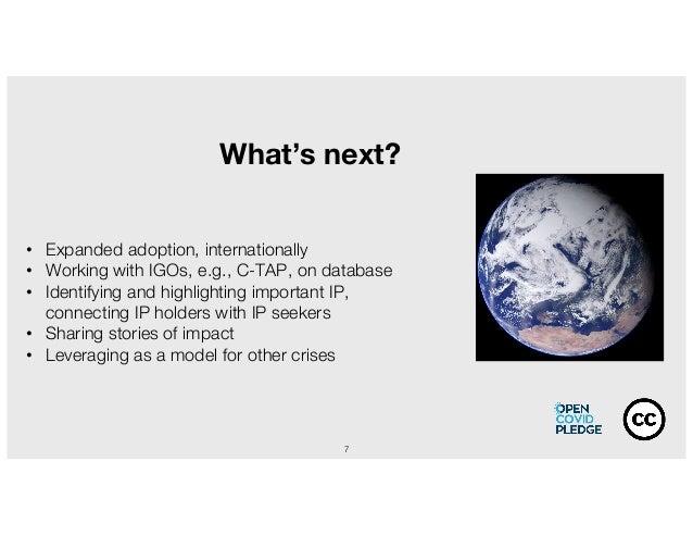 7 What's next? • Expanded adoption, internationally • Working with IGOs, e.g., C-TAP, on database • Identifying and highli...
