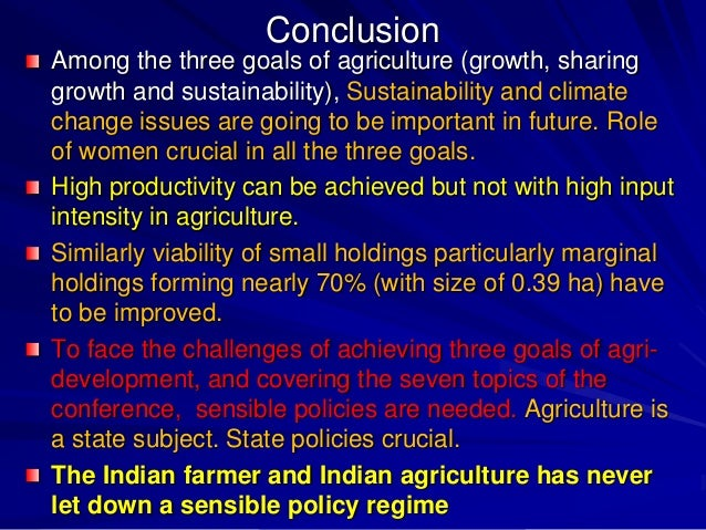 """indian agriculture challenges With almost 47 per cent of the workforce in india engaged in agriculture, unless  this sector performs well, """"sabka saath, sabka vikas"""" will not be."""