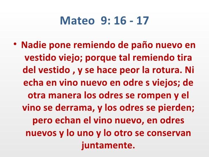 Resultado de imagen para Mateo 9,16-17