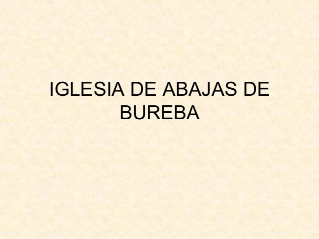 IGLESIA DE ABAJAS DE BUREBA