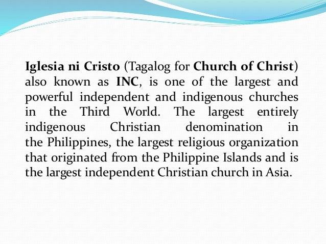 Iglesia ni cristo (ppt report)