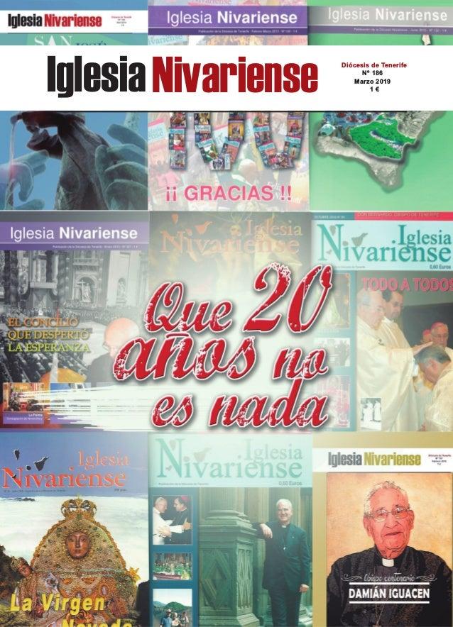 IglesiaNivariense Diócesis de Tenerife Nº 186 Marzo 2019 1 €