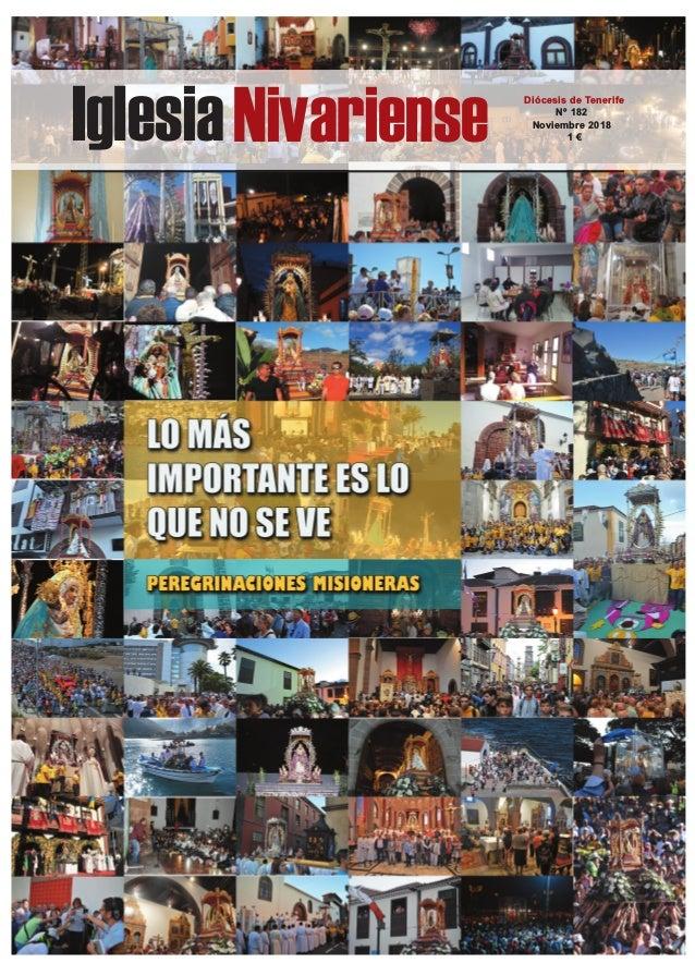 IglesiaNivariense Diócesis de Tenerife Nº 182 Noviembre 2018 1 €