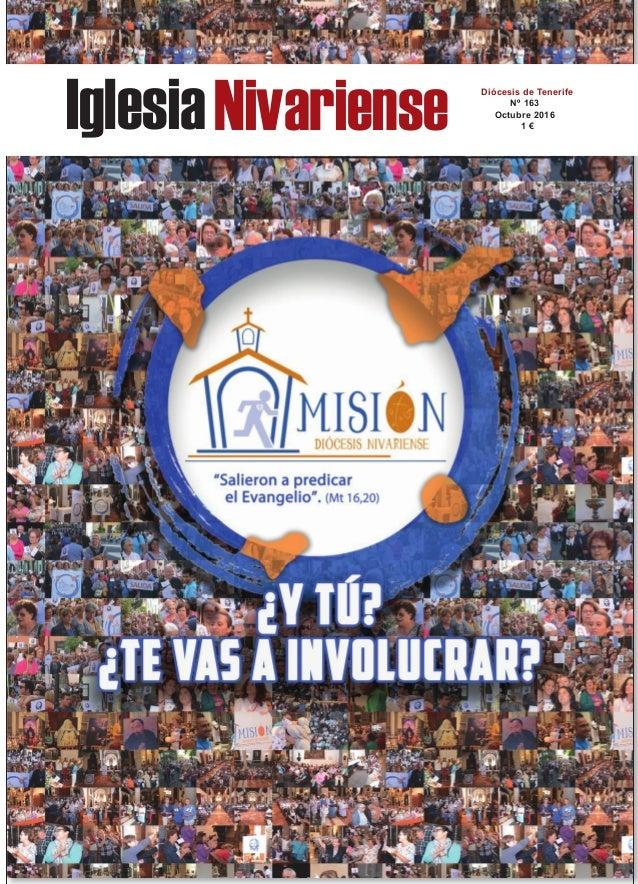 IglesiaNivariense Diócesis de Tenerife Nº 163 Octubre 2016 1 €