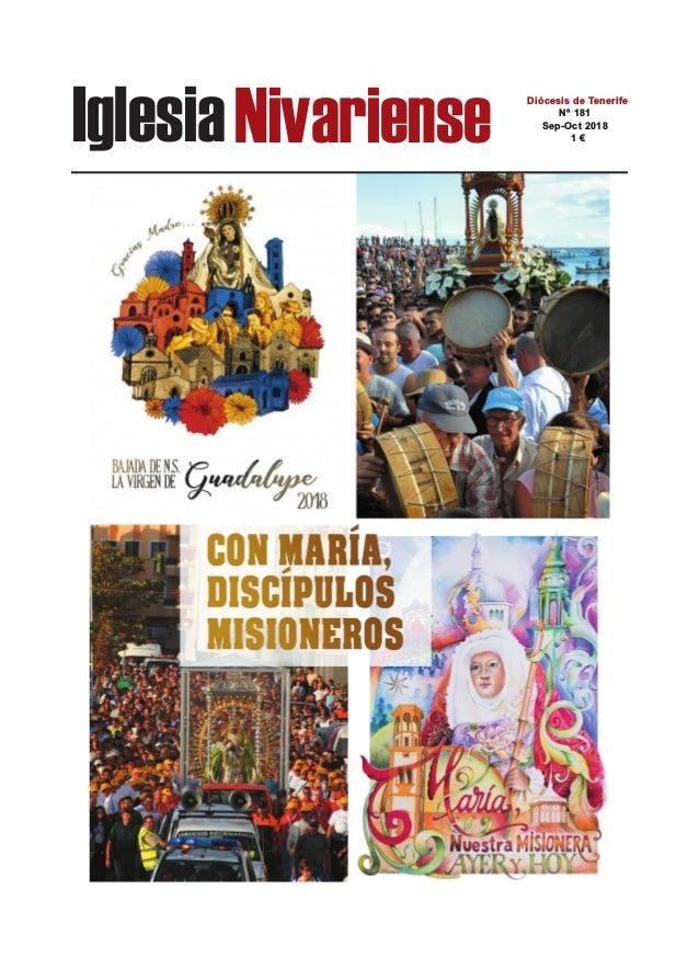 IglesiaNivariense Diócesis de Tenerife Nº 181 Sep-Oct 2018 1 €