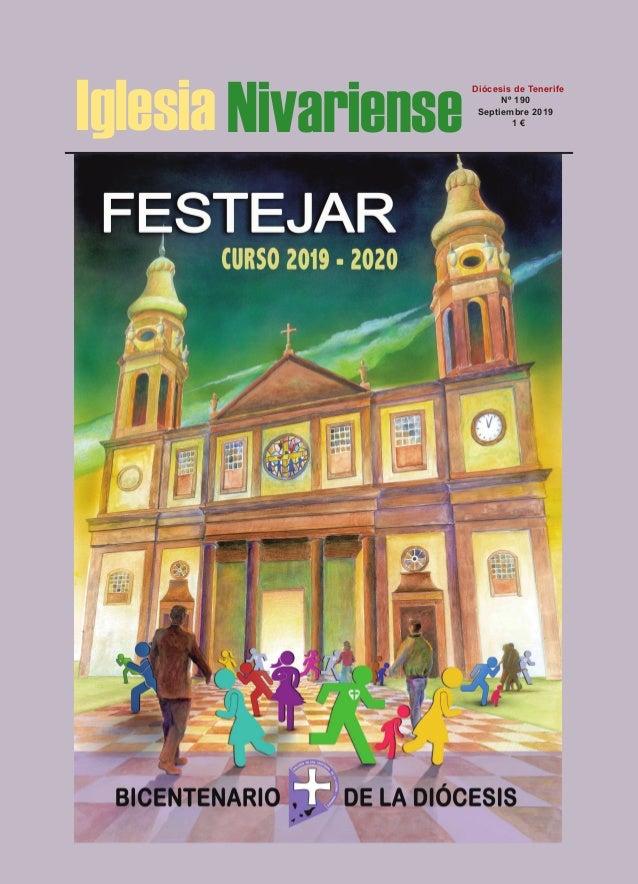 Iglesia Nivariense Diócesis de Tenerife Nº 190 Septiembre 2019 1 €