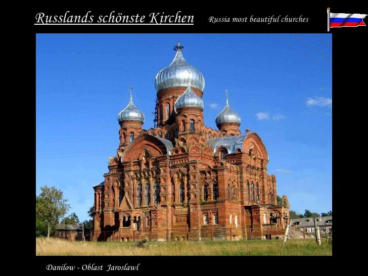 Russlands schönste Kirchen Russia most beautiful churches   Danilow - Oblast  Jaroslawl