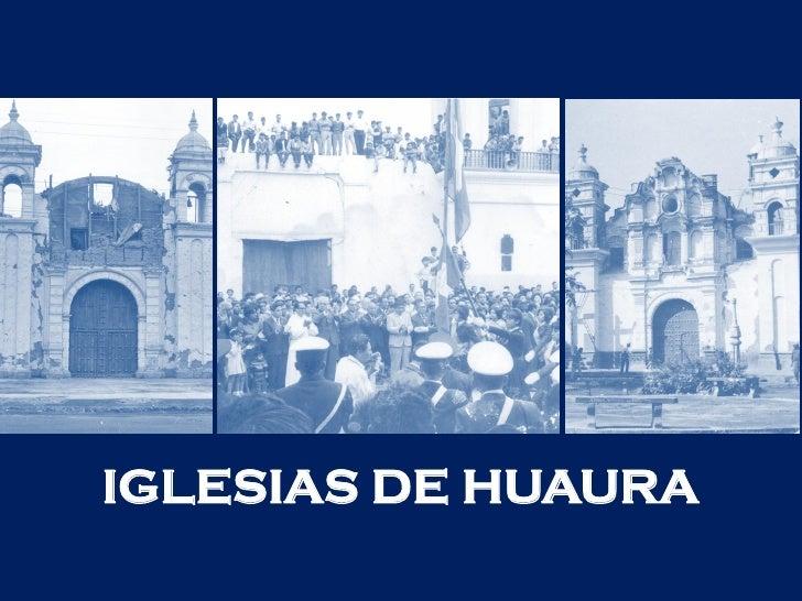 IGLESIAS DE HUAURA