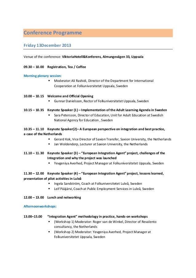 Igma conference invitation and agenda uppsala december 13th conference programme stopboris Gallery