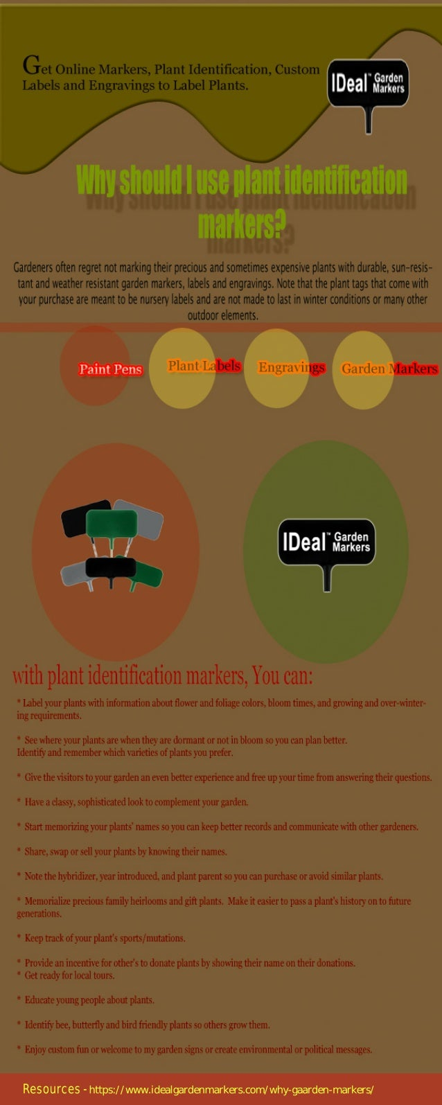 Why should I use Plant Identification Markers?