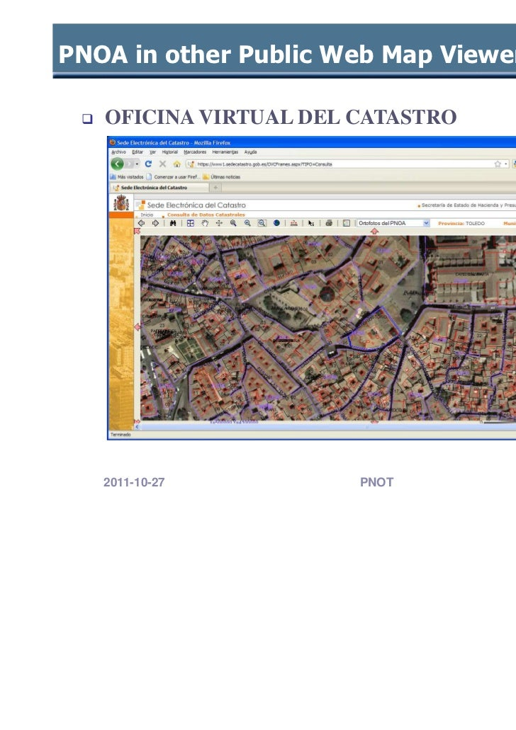 National plan for land observation in the european for Oficina virtual del catastro valencia