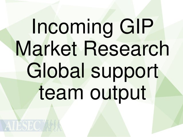 Incoming GIP Market Research Global support team output