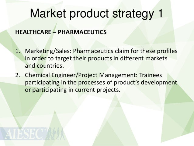 Market product strategy 1 HEALTHCARE – PHARMACEUTICS 1. Marketing/Sales: Pharmaceutics claim for these profiles in order t...