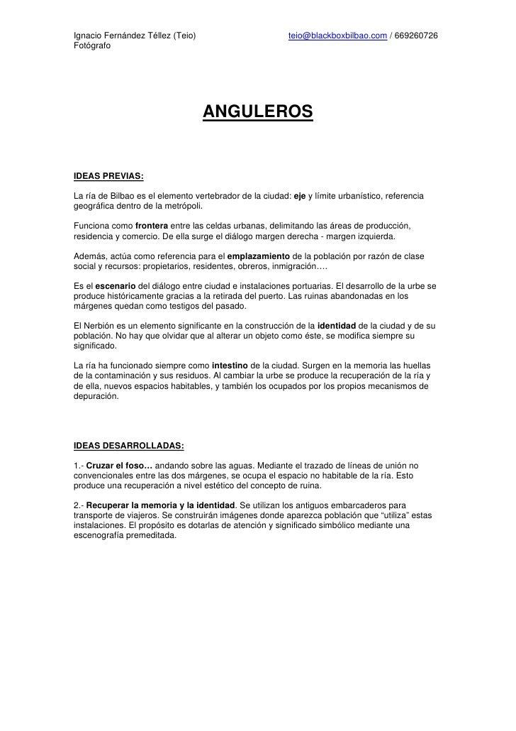 Ignacio Fernández Téllez (Teio)                          teio@blackboxbilbao.com / 669260726Fotógrafo                    ...