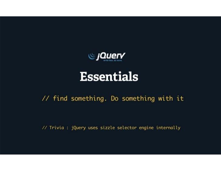 jQuery essentials - Selectors