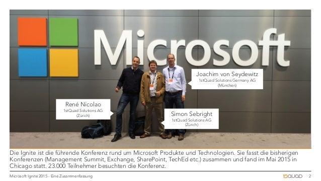 Microsoft Ignite 2015: Zusammenfassung Slide 2