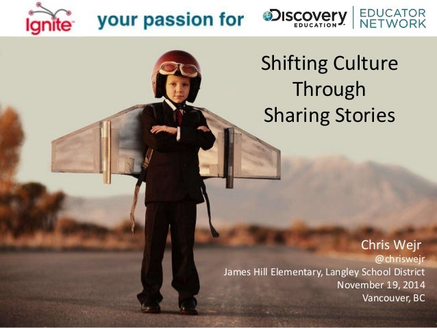 Shifting Culture  Through  Sharing Stories  Chris Wejr  @chriswejr  James Hill Elementary, Langley School District  Novemb...