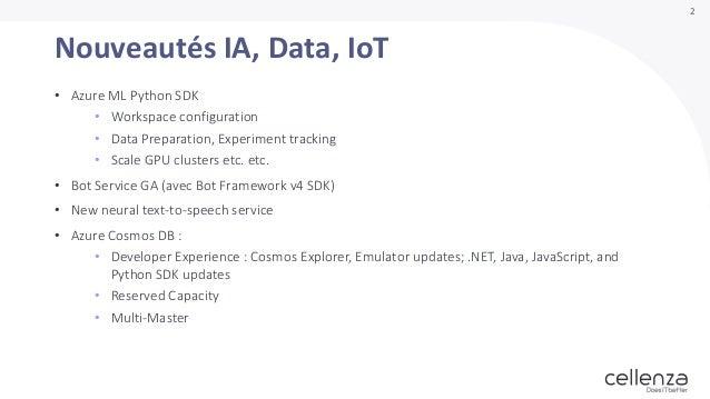 Ignite 2018 - nouveautés Data,AI, IoT (Marius Zaharia