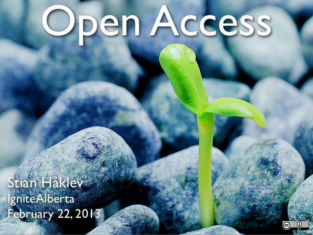 Open AccessStian HåklevIgniteAlbertaFebruary 22, 2013