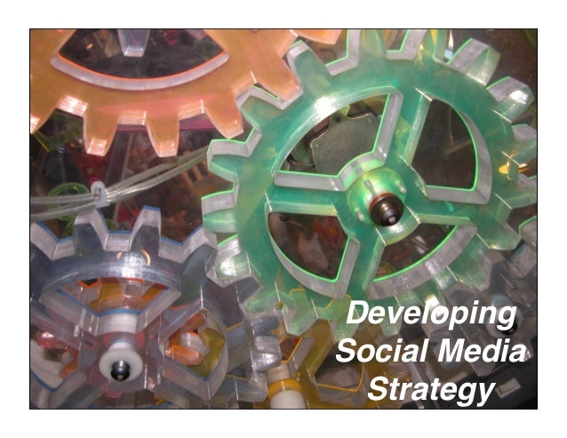Developing Social Media Strategy Text