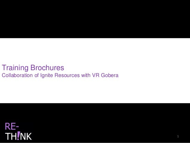 Training Brochures Collaboration of Ignite Resources with VR Gobera 1