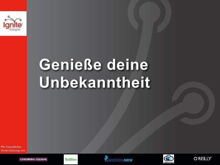 Ignite Cologne: Von Davids und Goliaths – Warum Klein sexy ist Slide 3