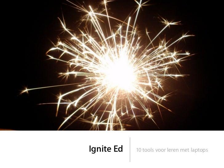 Ignite Ed   10 tools voor leren met laptops