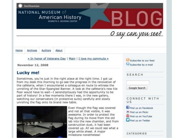 Blogging is dead. Long live the museum blog!  Thanks!  Dana Allen-Greil t. @danamuses b. EngagingMuseums.com