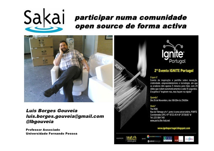 participar numa comunidade                           open source de forma activa     Luis Borges Gouveia luis.borges.gouve...