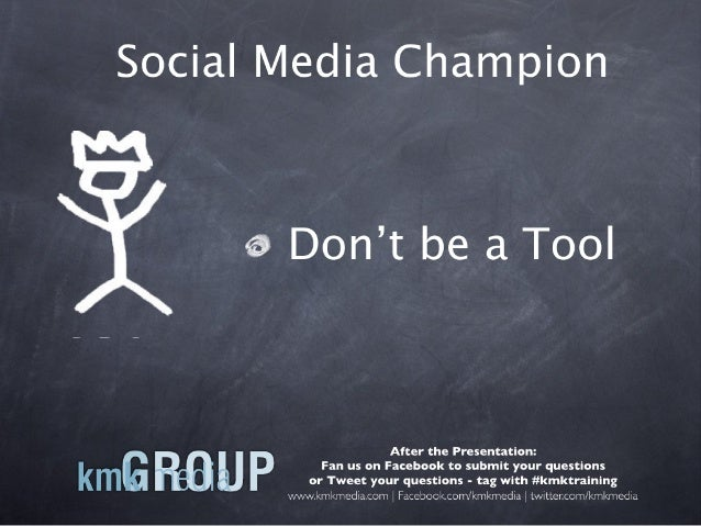 Ignite Presentation Don't be a Tool
