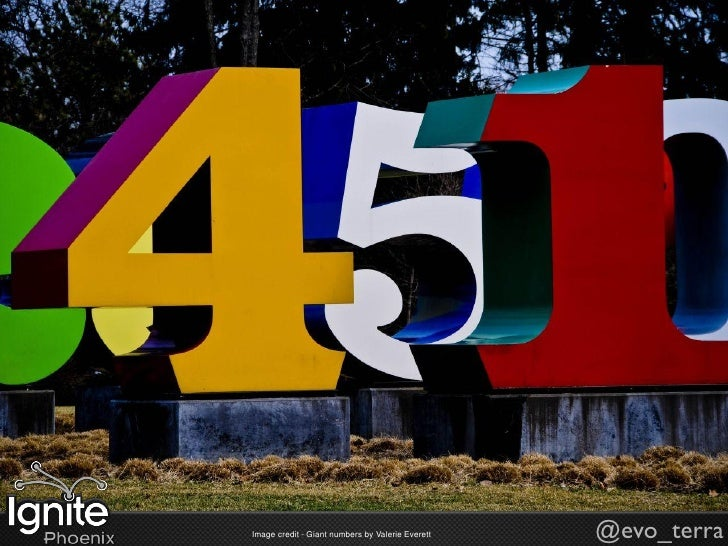 Image credit - Giant numbers by Valerie Everett   @evo_terra