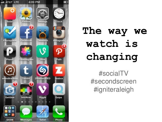 The way we watch is changing    #socialTV #secondscreen  #igniteraleigh