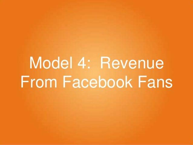 Model 4: Revenue From Facebook Fans