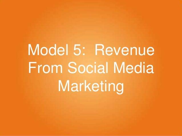 Model 5: Revenue From Social Media Marketing