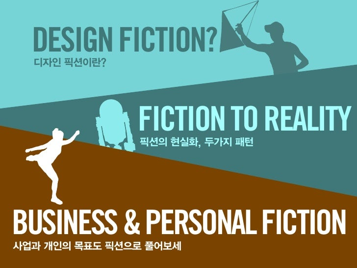 DESIGN FICTION?          FICTION TO REALITYBUSINESS & PERSONAL FICTION