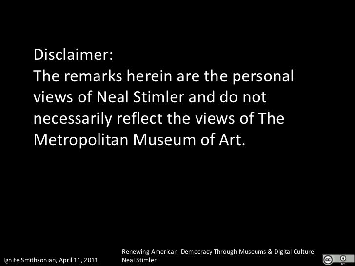 Disclaimer:The remarks herein are the personal views of Neal Stimler and do not necessarily reflect the views of The Metro...