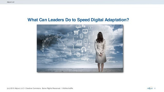(cc) 2015 Adjuvi, LLC   Creative Commons. Some Rights Reserved.   @dhinchcliffe Adjuvi LLC What Can Leaders Do to Speed Di...