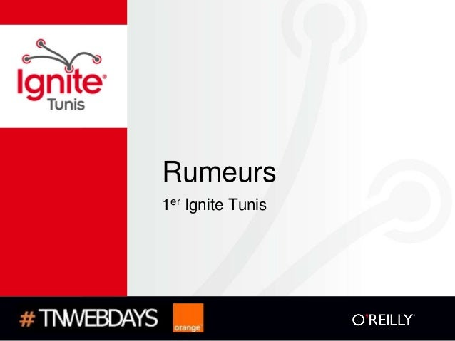 Rumeurs1er Ignite Tunis