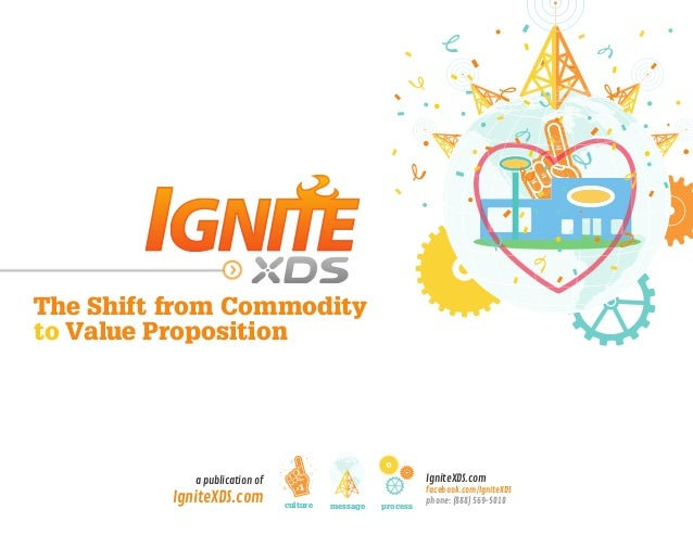 IgniteXDS.com facebook.com/IgniteXDS phone: (888) 569-5010 a publication of IgniteXDS.com The Shift from Commodity to Valu...