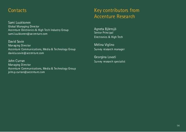 14 Contacts Sami Luukkonen Global Managing Director Accenture Electronics & High Tech Industry Group sami.luukkonen@accent...