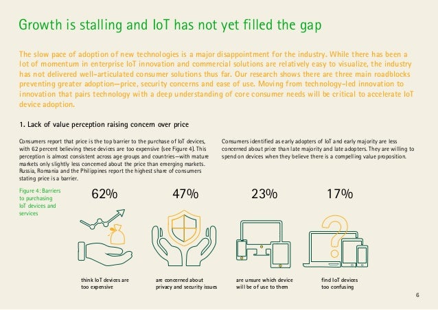 6 Growth is stalling and IoT has not yet filled the gap The slow pace of adoption of new technologies is a major disappoin...